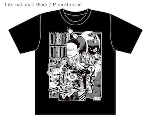 [Black / Monochrome] Collaborative T-shirt by Hiroshi Matsuyama (CyberConnect2) and jbstyle. *Use coupon code for 10% OFF
