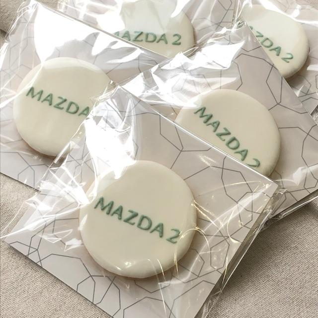 【企業さま向け】台紙付き丸型ロゴ入りアイシングクッキー(⌀6cm)