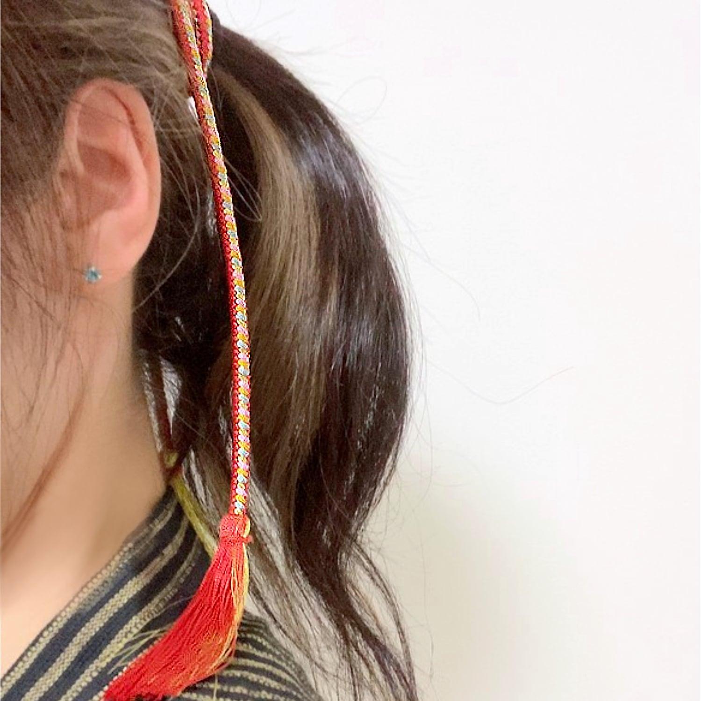 【組紐】レッドポップ 房付き飾り紐