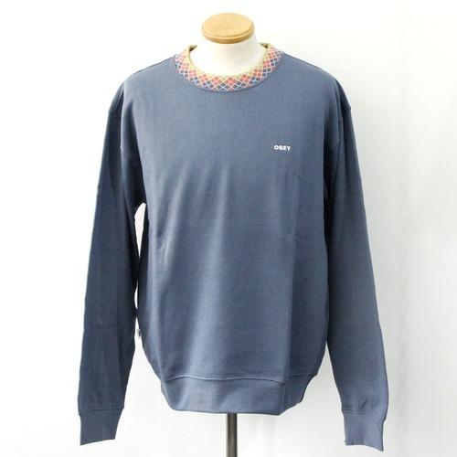 【OBEY】 VERNER ARGYLE CREW (Vintage Blue)