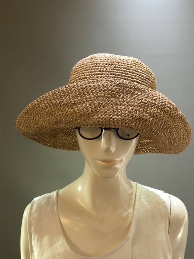 Sans Arcidet (サンアルシデ)FANNY HAT Col.The(Beige) ラフィア定番人気の帽子 マダガスカル製