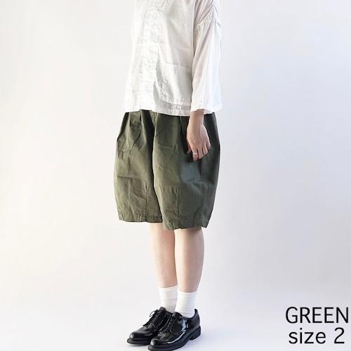 【HARVESTY】CIRCUS SHORT PANT (MILITARY GREEN) (UNISEX) ショートパンツ サーカスショートパンツ ユニセックス 日本製
