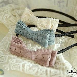 «即納» flo jude hair band 4colors レースリボンカチューシャ