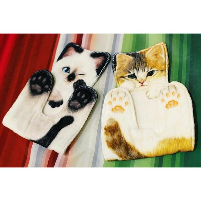 猫型ハンカチタオル/綿100%/浜松雑貨屋 C0pernicus