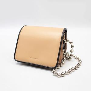 [SALE] beautiful people(ビューティフルピープル) combi color slant ing accordion bag