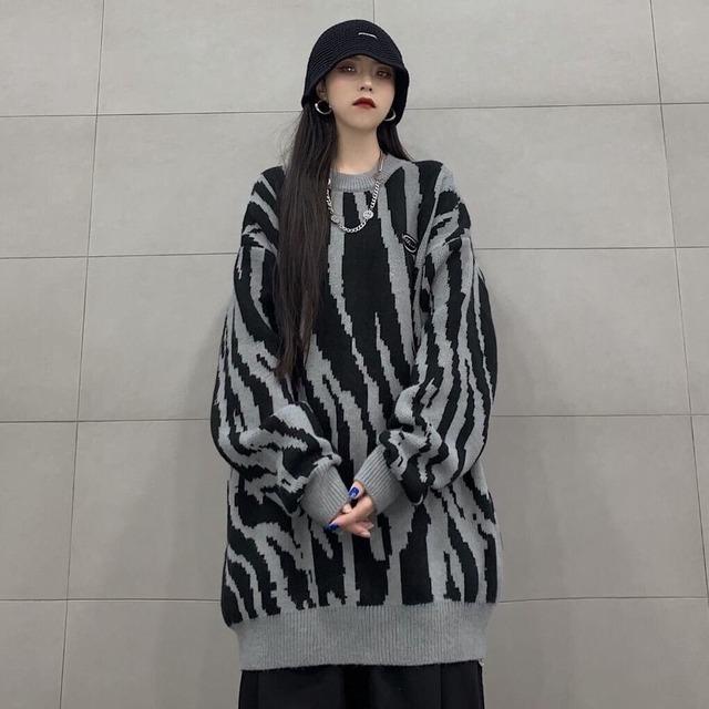 【トップス】ファッションストリートルーズカップルニット生地セーター53740440