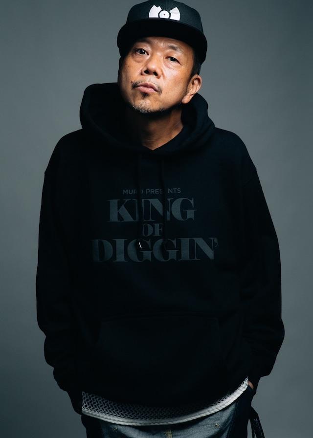 MURO presents KING OF DIGGIN' Official Hoodie (BLACK)