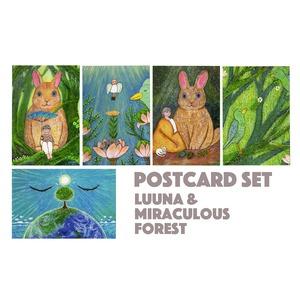 「きっと大丈夫だよ〜ルーナと不思議な森の物語〜」ポストカードセット