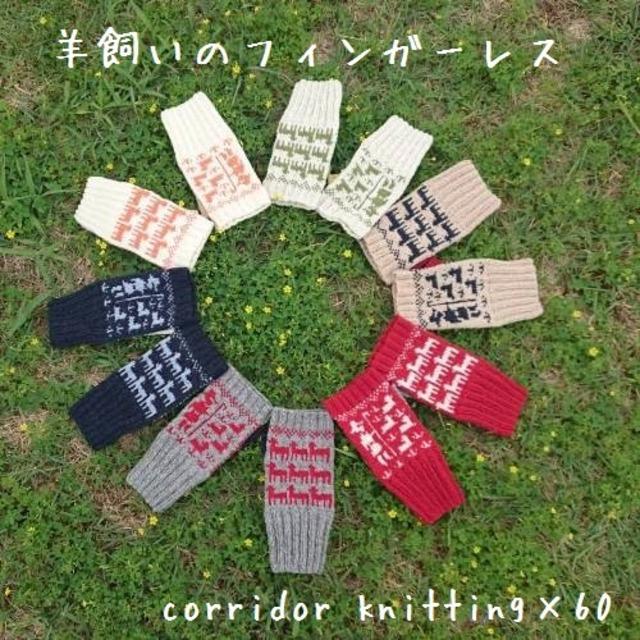 (糸のみ)羊飼いのフィンガーレスの編み物キット byコリドーニッティング