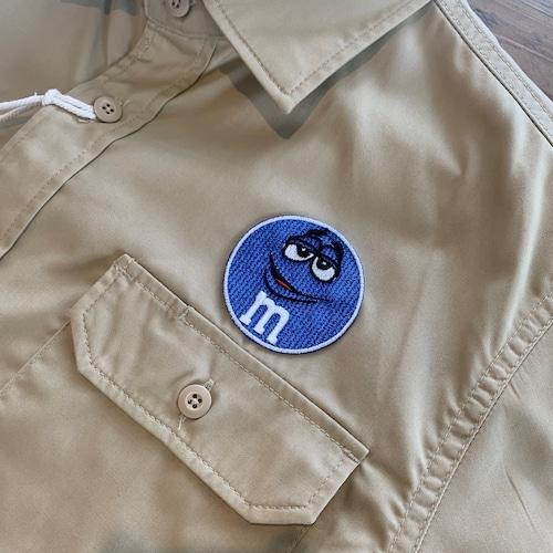 PATCHIES 【ワッペン】 M&M's エムアンドエムズ ブルー ワークシャツ