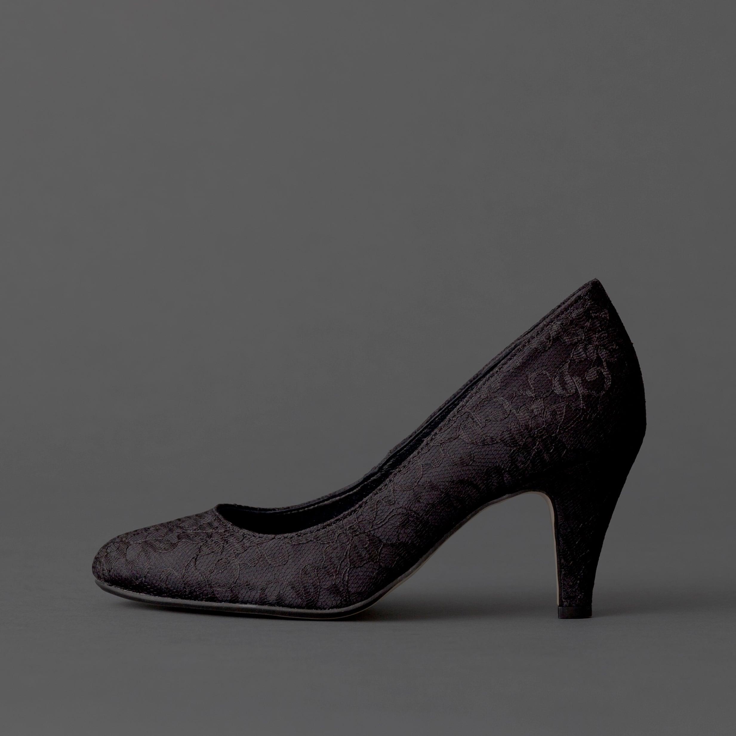 Lace / Close Toe / 7cm / BK 【7002 BK】