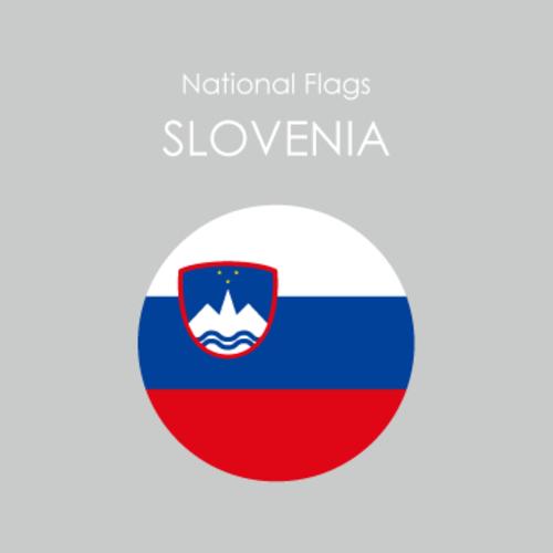 円形国旗ステッカー「スロベニア」