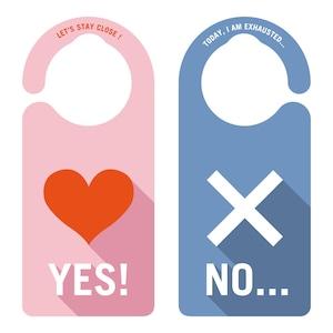YES NO ドアプレート[1149] 【全国送料無料】 ドアサイン ドアノブプレート