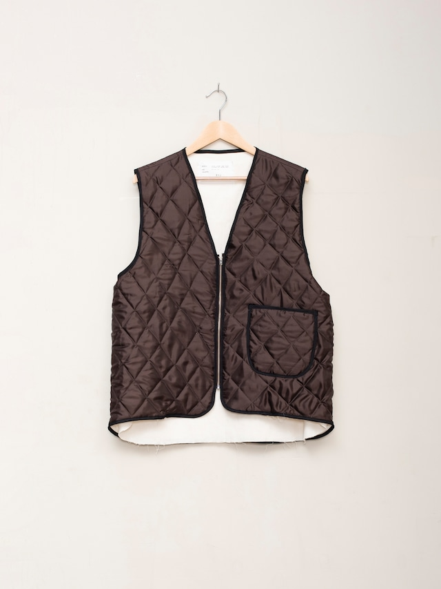 CAMIEL FORTGENS QUILTED PADDED WORKER VEST Brown CF.12.05.02