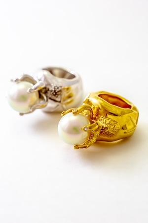 Ring Starfish BRASS.Gold Corting