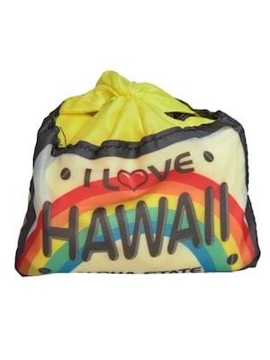 ハワイ限定商品を安心の国内配送で!ハワイアン折りたたみエコバッグ ライセンスプレート