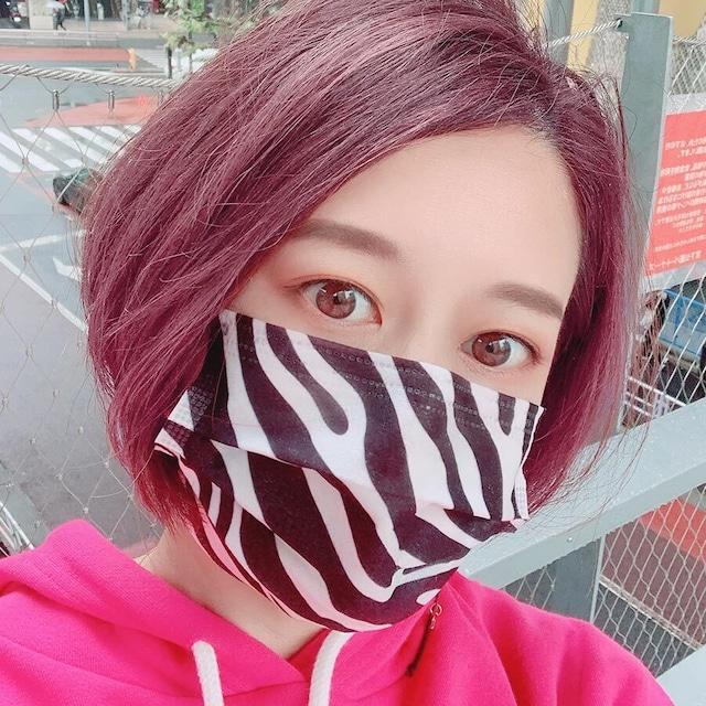 ゼブラ柄不織布3層ファッションマスク(10枚入)(L20089-061)