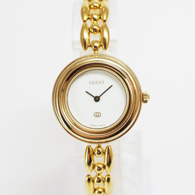 GUCCI グッチ 1200 1100-L  チェンジベゼル SS クォーツ レディース 腕時計