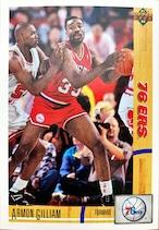NBAカード 91-92UPPERDECK Armon Gilliam #390 76ERS