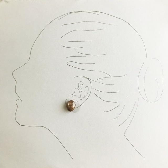 「宝珠」Houjyu-和紙のピアス-No.06