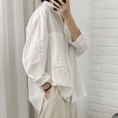 Washed cotton shirt(ウォッシュドコットンシャツ)a-176