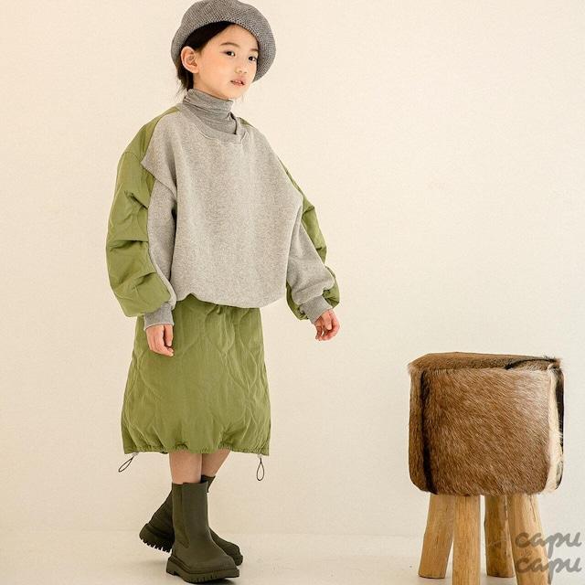 «ジュニア・ママサイズ»«先行予約割引»«Z'an Clover» quilting pants キルティングスカート