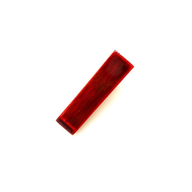 HC008 飛騨春慶のヘアクリップ mini 紅