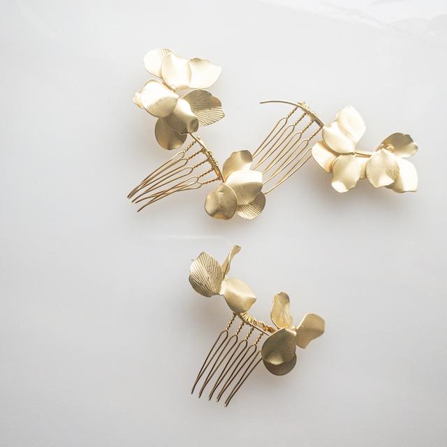 【和装・洋装】goldペタルヘッドドレス 【3点セット】