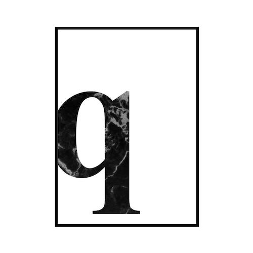 """""""q"""" 黒大理石 - Black marble - ALPHAシリーズ [SD-000544] A4サイズ ポスター単品"""