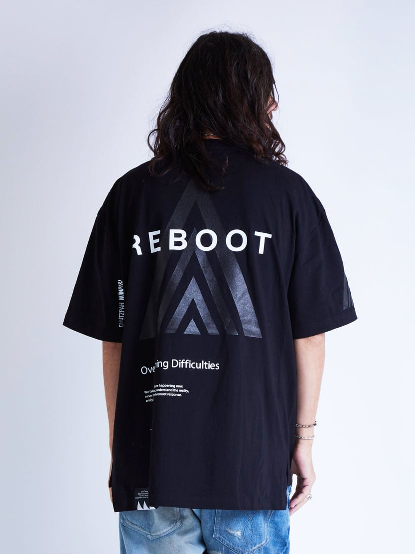EGO TRIPPING (エゴトリッピング) REBOOT TEE リブートTシャツ / BLACK 663814-05
