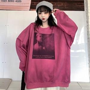 【トップス】韓国風ルーズINS風ラウンドネックTシャツ52241890