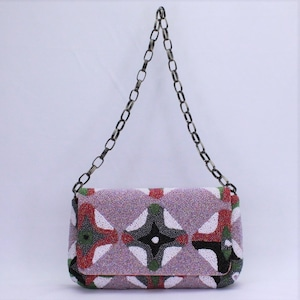 M ビーズ刺繡 ショルダーバッグ Mサイズ