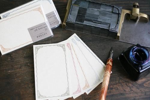 装飾活字ミニメッセージカード all Antique -31-