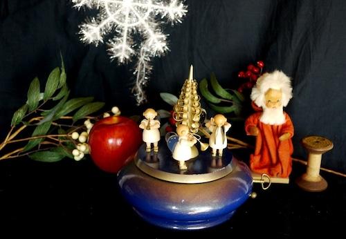 ロマンス28弁オルゴール 天使楽隊 エルツ 民芸木製人形 きよしこの夜 ドイツ木製 Reuge