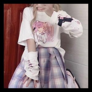 【お取り寄せ】ゆめかわ アームカバー付き ピストル 少女pt Tシャツセット 3色