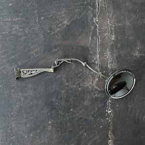 Antique nickel wall mirror