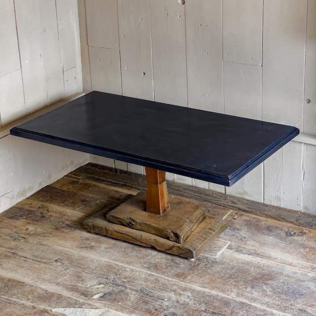 コーヒーテーブル〈座卓と古材のアップサイクル〉【値下予告作品/送料無料】