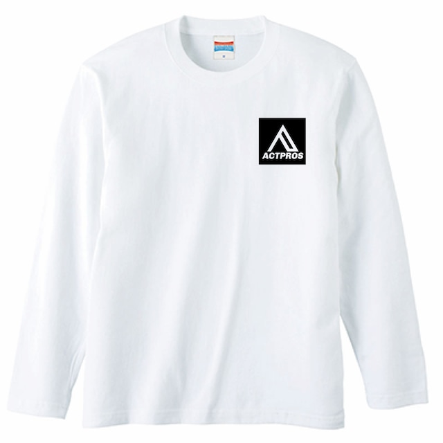 【UNISEX】ACTPROS スクエアロゴ 5.6oz 長袖Tシャツ【3colors】