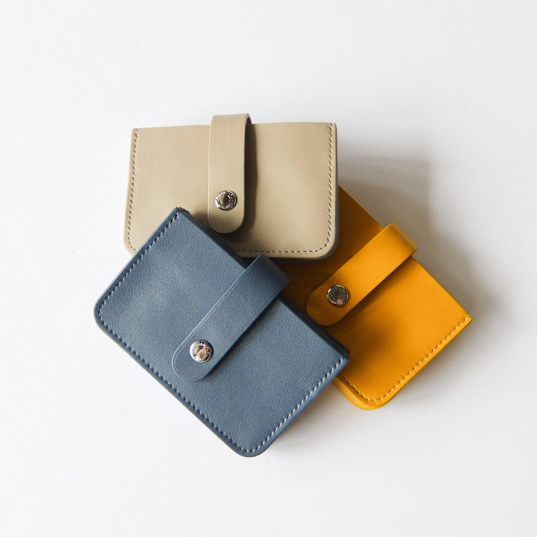 STANDARD SUPPLY - PAL  ACCORDION CARD CASE アコーディオンカードケース - Blue Grey / Yellow / Light Beige