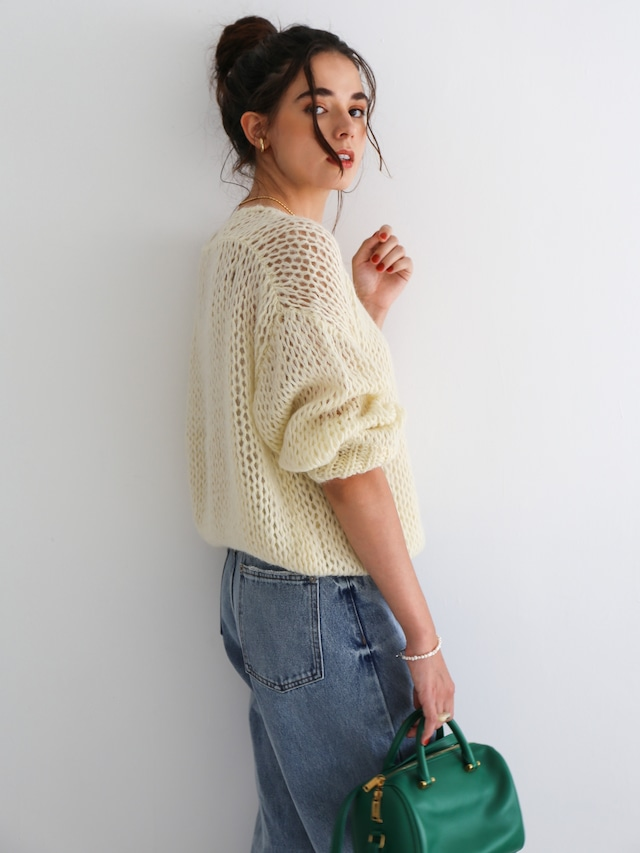 mohair low-gauge knit(ivory)