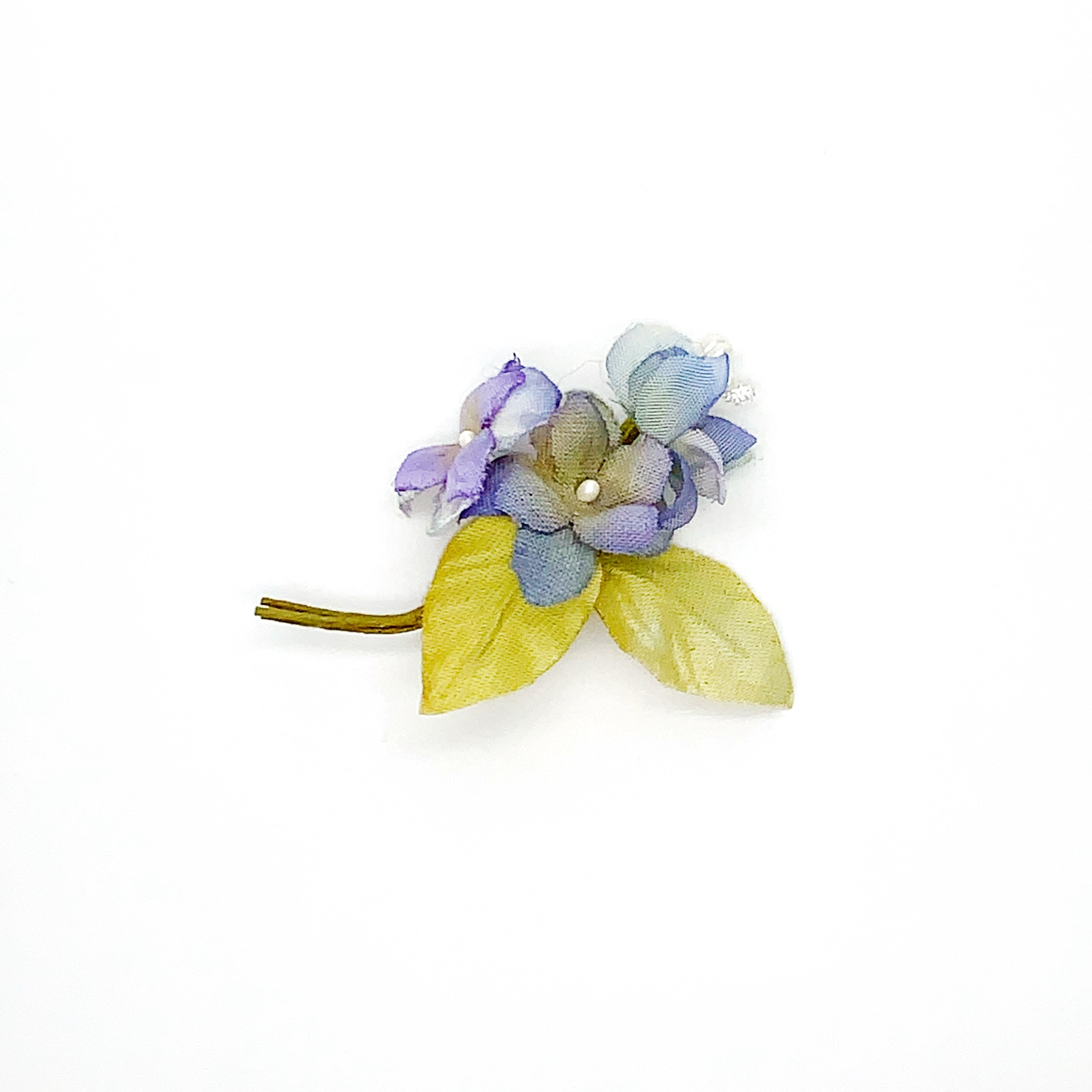 Arpeggio お花ブローチ ブルー