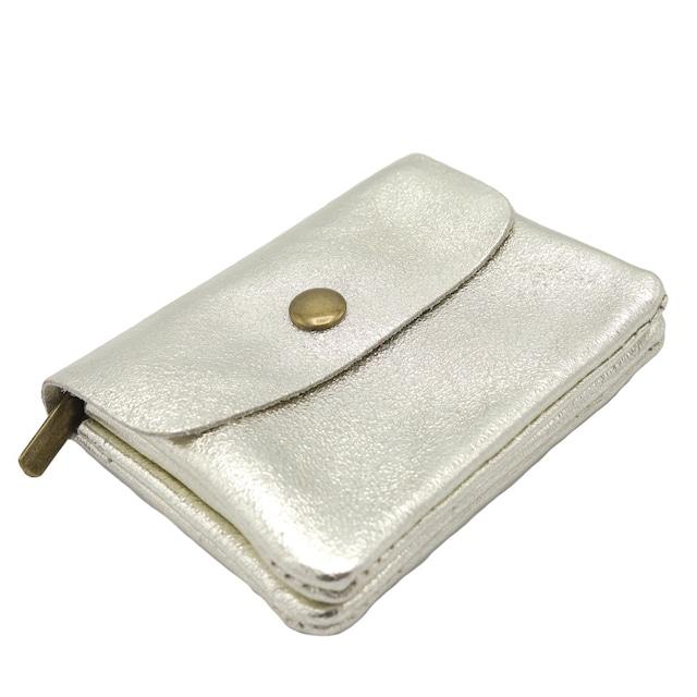 イタリア製 本革 小銭入れ コインケース ゴールド
