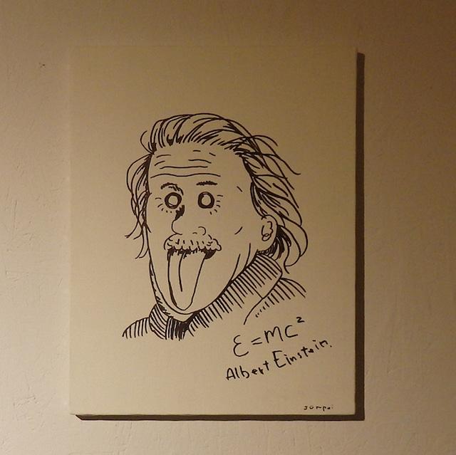 絵「アインシュタイン」一点もの ファブリックパネル アートボード