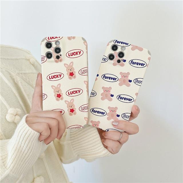 Couplerabbit bear iphone case