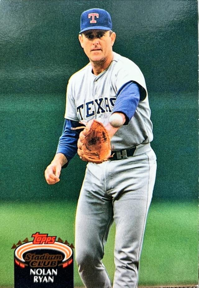 MLBカード 92TOPPS Nolan Ryan  #770 RANGERS