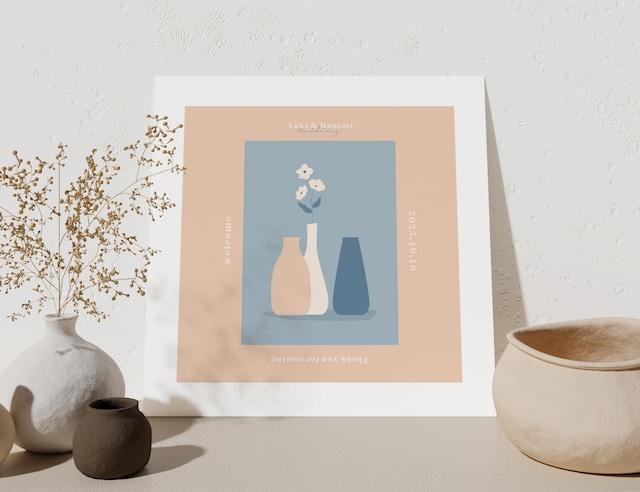ウェルカムボード|正方形 花瓶