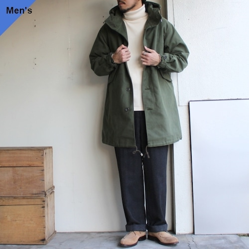 【19AW入荷】SETTO フードロングコート EXPLORER ST-JK009 (オリーブ)