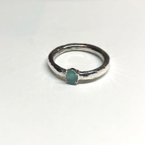 【4OMSV】『One off』  Grandidierite oval cut ring