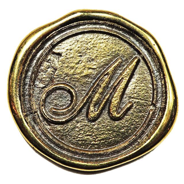シーリングイニシャル LL 〈M〉 ブラス / コンチョボタン