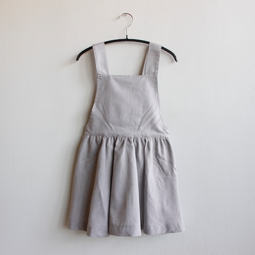 《AS WE GROW 2021SS》PINAFORE DRESS / Greige Cotton